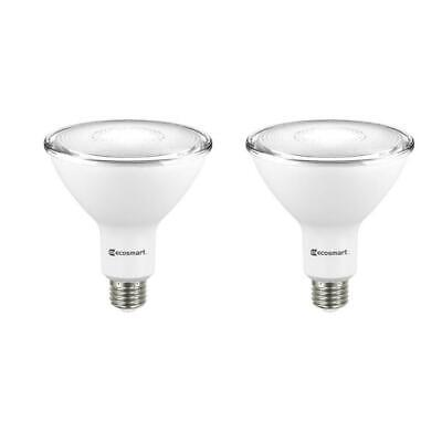 EcoSmart 90W Non-Dimmable LED Floodlight Bulbs, Bright White (2 packs)