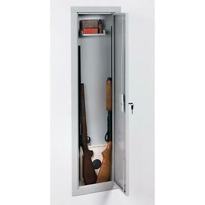 In-Wall Cabinet Full Length Gun Storage Safe Rifle Vault Security Kid Safety NEW
