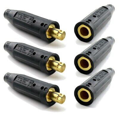 Weldingcity 3-pk Tweco-type Twist-lock Cable Connector 10-30 2-mpclc-40 Usa