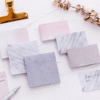 Tearable Square Stone Texture Sticky Notes Notebook Memo Pad Marble Texture