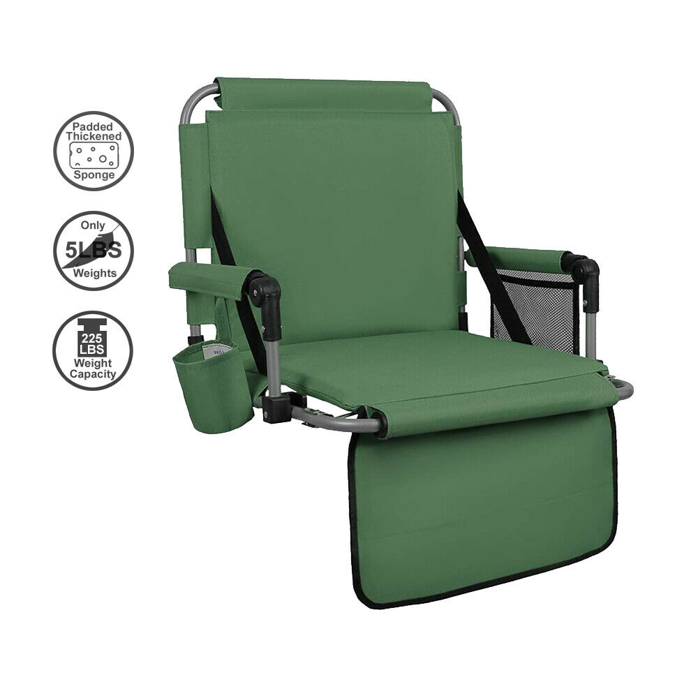ALPHA CAMP Green Thickened Folding Stadium Seat Cushion Chai