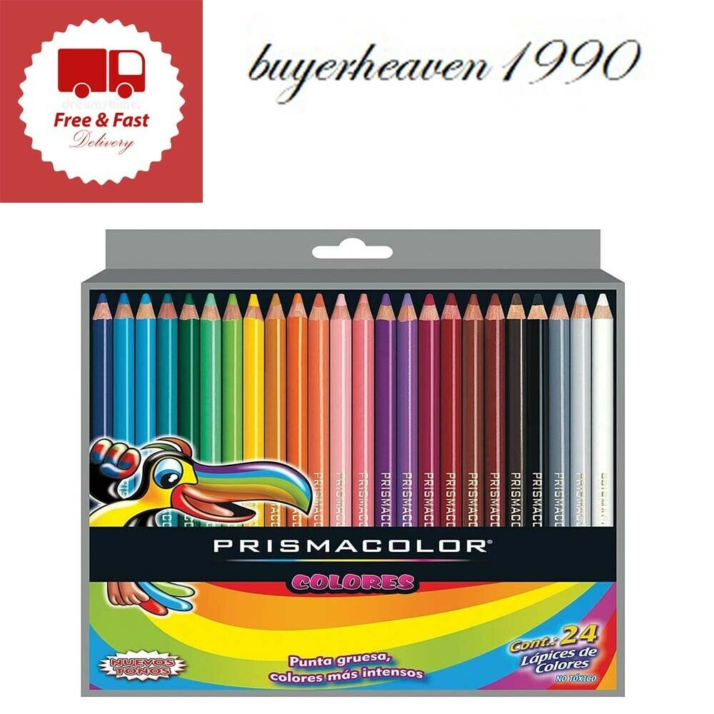 Scholar Colored Pencil Set 24 Pack Writing Correction Office