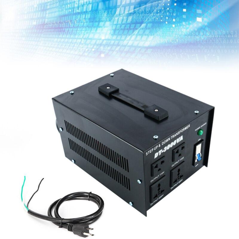 3000W 110V to 220V Voltage Step Up/Down Power Converter Transformer Stabilizer