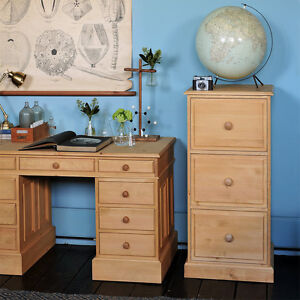 Dorchester Pine 3 Drawer Filing Cabinet, Classic Pine, Fully Assembled