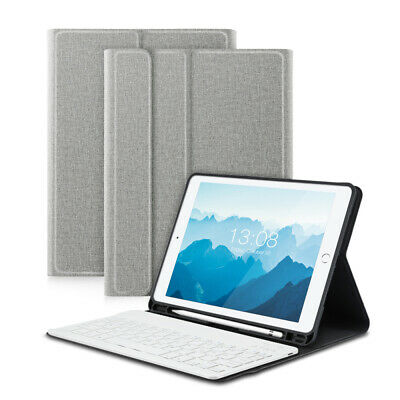 "QWERTZ Weiß Tastatur iPad 6th/5th 2018/2017 9.7""DEUTSCHE Bluetooth Keyboard Case"