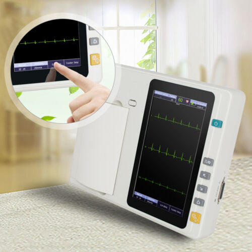 Portable ECG301 Digital 3 Channel 12 lead Electrocardiograph EKG Machine+Cable