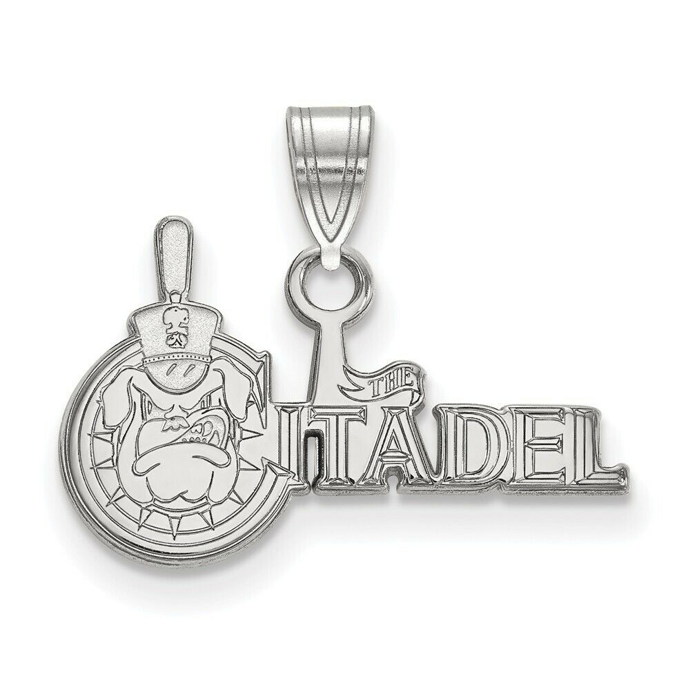 925 Sterling Silver Rhodium-plated Laser-cut Syracuse University Small Pendant