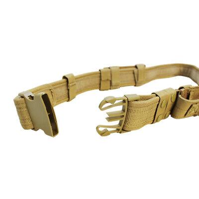 Molle Tactical Belt Combat Police Swat 2 Pistol Magazine Pouch Utility Belt-tan