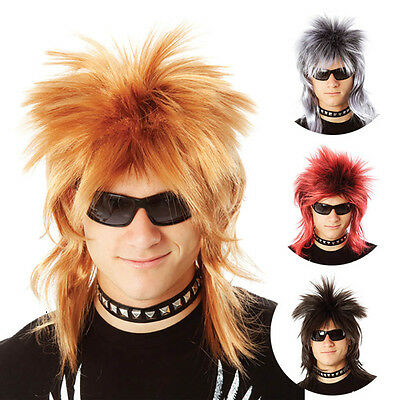 Adult Wild Punk Rock Wig Rock Star Diva 80s Accessories Halloween Party Cosplay](Rockstar Halloween Accessories)
