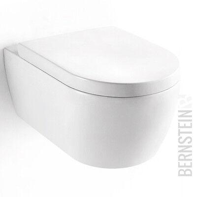 BERNSTEIN Design Wand Hänge WC Toilette Tiefspüler Absenkautomatik Softclose
