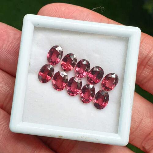 7x5MM 2PCS Ravishing Color! NATURAL AAA PURPLE PINK RHODOLITE GARNET GEMSTONE