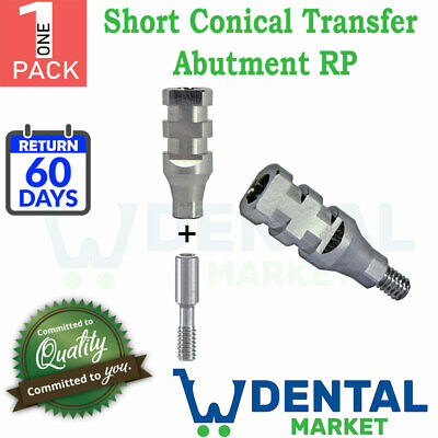 1x Dental Implant Transfer Impression Coping Open Tray Conical Nobel Active Rp