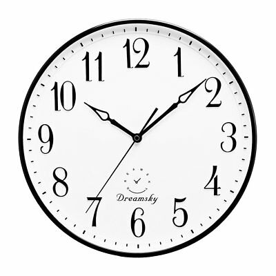 DreamSky 13 1/2 Inch Extra Large Wall clock, Non - Ticking  Silent Decorative