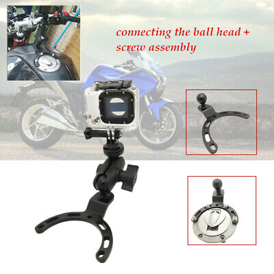 Sport motorcycle racing tank cover mobile phone camera fixed ball head bracket
