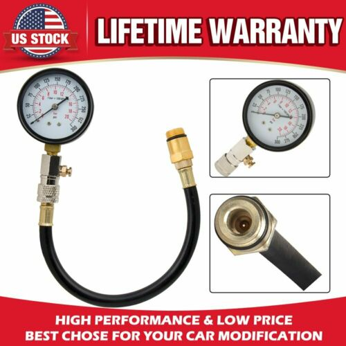 Automotive Car Engine Compression Cylinder Pressure Tester Gauge Meter 0-300 psi