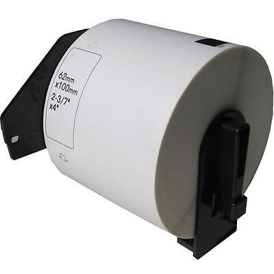 1 Roll Dk-1202 Dk1202 White Shipping Labels For Brother Ql-580n Ql-650td Ql-700