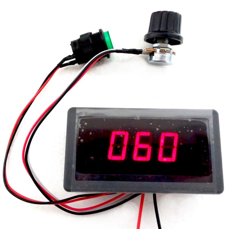 DC 6-30V Motor Speed Controller With 12V 24V 8A PWM Digital Display & Switch