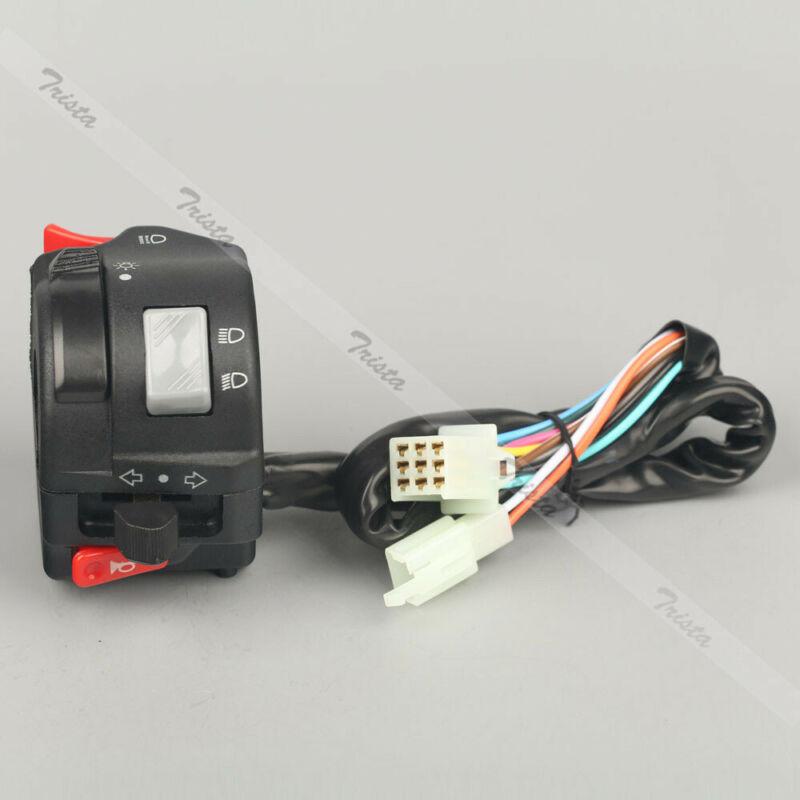 "Motorcycle 7/8"" Handlebar Horn Turn Signal Headlight Control Left Switch 12V #u"