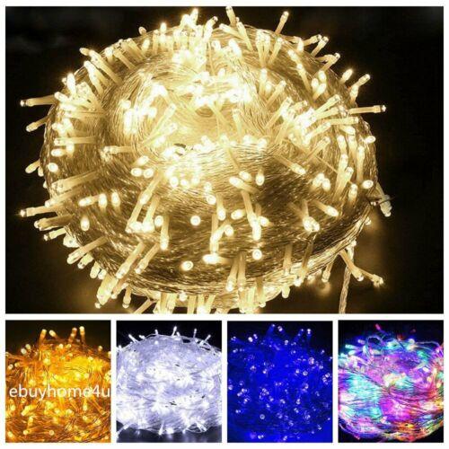 200 300 500 LED Mains Powered Fairy String Lights Garden Party Decor XMAS Lamp