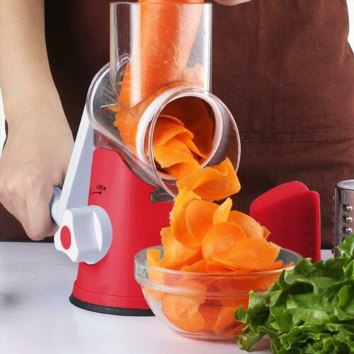 Stainless Steel Hand Crank Rotary Cheese Grater Vegetable Fo