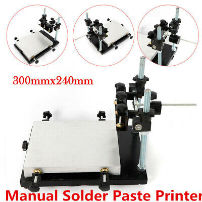 Pcb Smt Stencil Printer 300x240mm Manual Solder Paste Printing Machine New