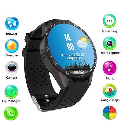 Kingwear KW88 Bluetooth Wireless SIM GSM GPS Wrist Phone Smart Watch For Android