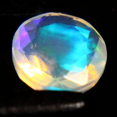 6 mm Round Cut Diamond Shape Faceted Super Gem Ethiopian Opal Gemstone fc14