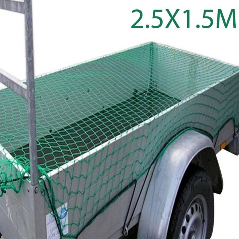 Anhängernetz 2.5x1.5 m dehnbar Ladungssicherungsnetz Transportnetz Abdecknetz