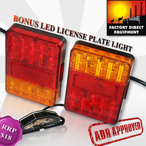 FDE 12V LED TAIL LIGHT TRAILER CAMPER UTE CARAVAN BOAT SUBMERSIBLE-ADR APPROVED