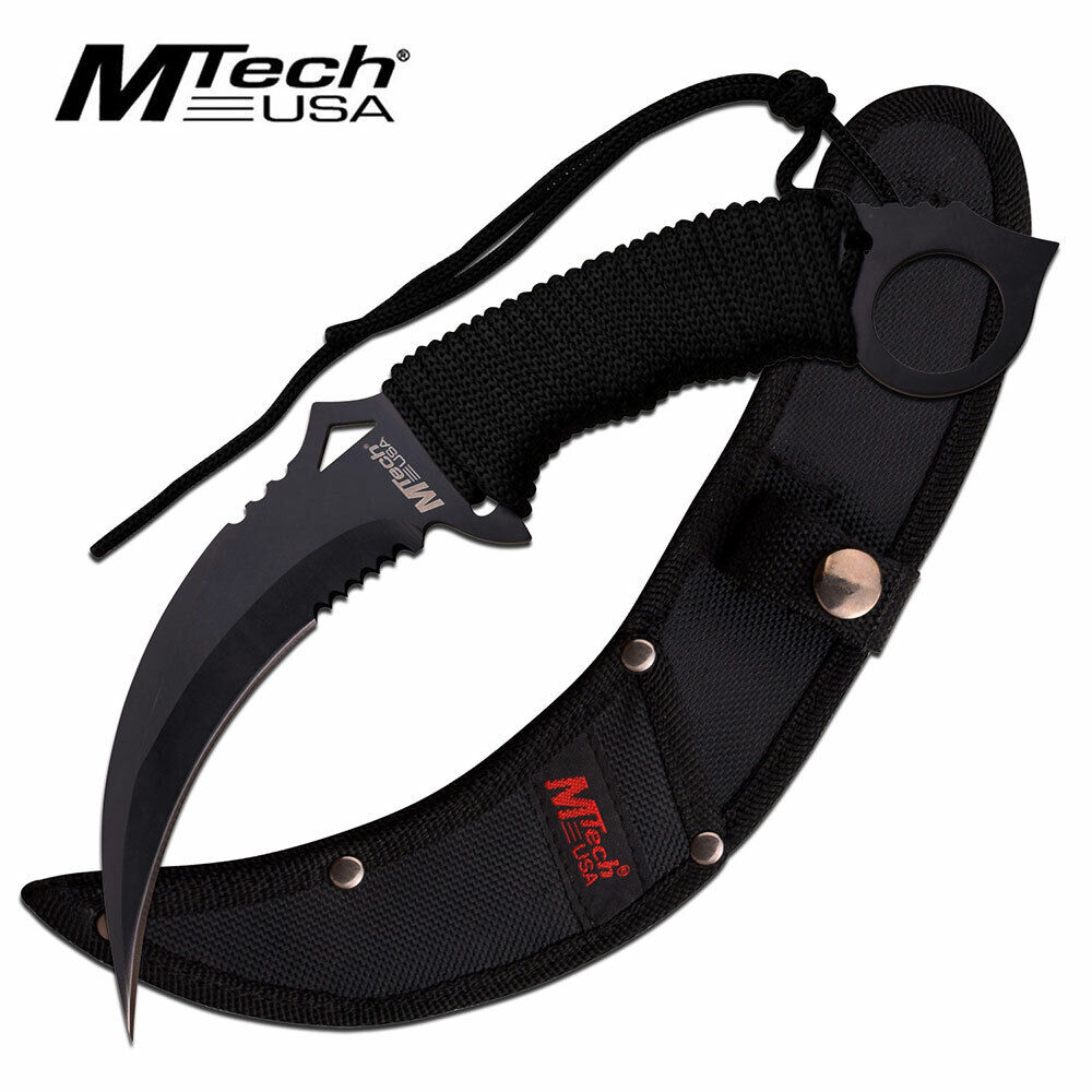 Bellissimo coltello Karambit MTECH USA MT-20-76BK Knife Messer Couteau Navaja