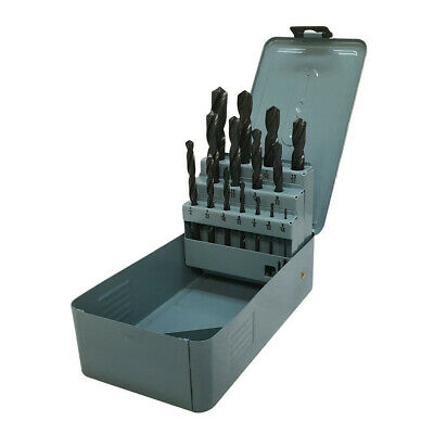 15 Pc Hss 116 - 12 By 32nd Jobber Drill Set Metal Index Straight Shank Drill