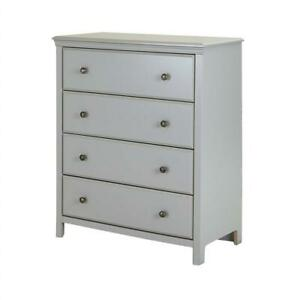 NEW South Shore Cotton Candy 4-Drawer Dresser, Soft Gray with Ceramic Handles Condtion: New Sealed
