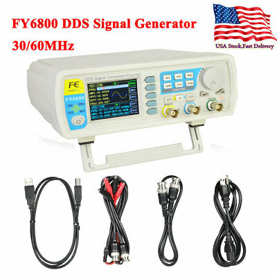 Fy6800 3060mhz Dds Function Signal Generator Frequency Meter Arbitrary Waveform