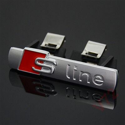 S Line Badge Original OEM Front Grill Emblems Chrome Matt Badges Decal All Model