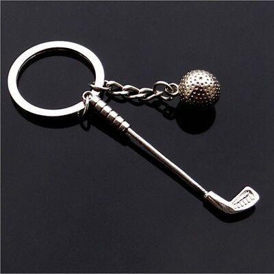 Mini Golf Club Ball Pendant Keyring Keychain Sports Lovers Gift Collectibles YG
