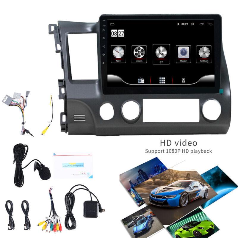 "For 06-11 Honda Civic 10.1"" Android 9.1 Stereo GPS Navigation Wifi Radio Player"