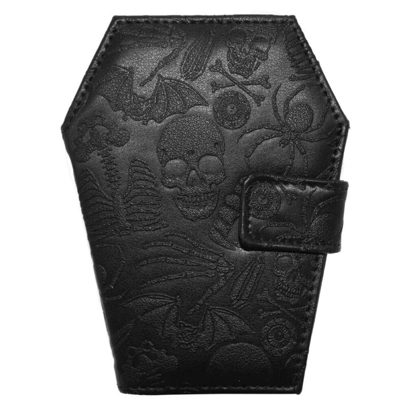 Kreepsville 666 Skull Coffin Wallet Purse Black PU Leahter Gothic Punk
