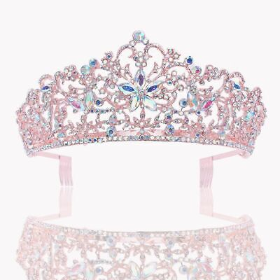 Recién Unique Estilo Flores Boda Tiara Corona Pedrería Con Peineta Accesorios