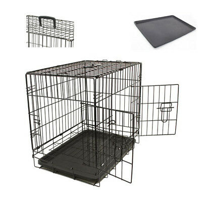 Dog Pet Training Transport crate Fold Flat cage Removable Tr