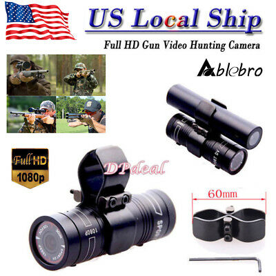 Gun Clip + Sport DV Shortgun Action Waterproof Camera For Hunting Shooting Video