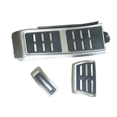 3Pcs Foot Rest Pedal Brake Pedal Plate Cover For Audi A4 A5 A6 A7 Q5 S4 S5