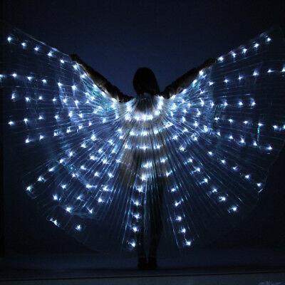Frauen LED Licht ISIS Wings Bauchtanz Kostüme 360 ° Ägyptische Sticks Leistung