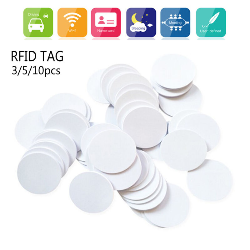 Details about 3/5/10pcs Mini Sample Consumption Universal Smart Chip RFID  NFC Tag Ntag 215
