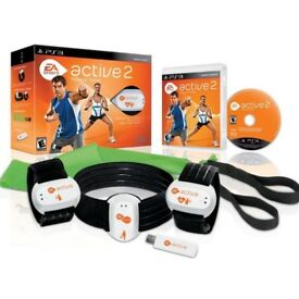 EA SPORTS ACTIVE 2 PERSONAL TRAINER WORKOUT FITNESS GAME FOR PS3,COMPLETE SET