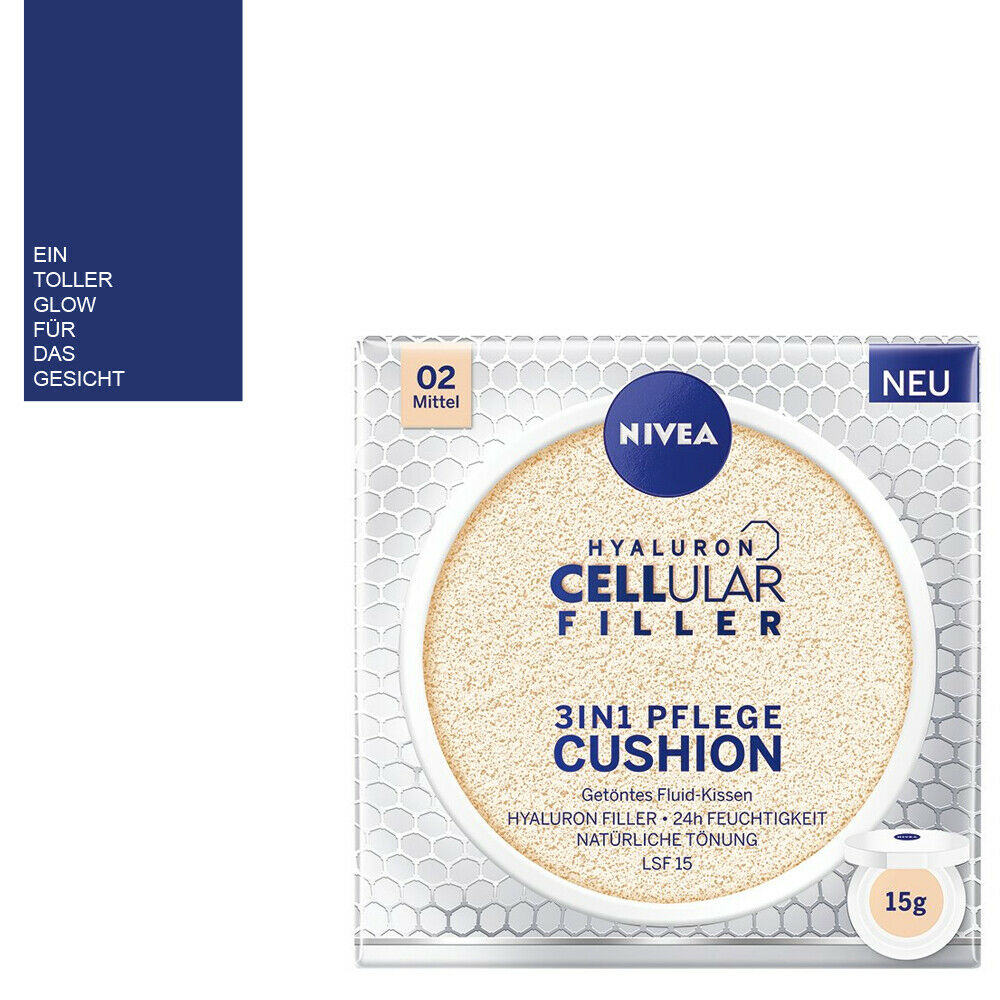 (100ml/186,60) Nivea Hyaluron Cellular Filler 3in1 Pflege Glow Cushion / Mittel