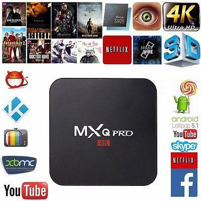 MXQ Pro Android TV Box S905 4K Digital TV Streaming Box Quad Core Android 5.1
