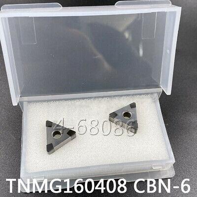 2pc Tnmg332 Tnmg160408 Cbn-6 Hardened Steel Carbide Insert Made Of Boron Nitride