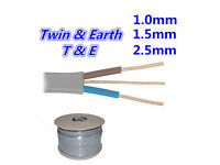 New 1.0 / 1.5 / 2.5mm Twin and Earth 3 Core Electrical Cable Wire 6242Y Required Length