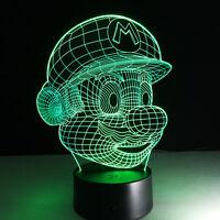 Luce Notturne Acrilico Nintendo Mario Jumpman Lampada Casa Decorazione Led - nintendo - ebay.it