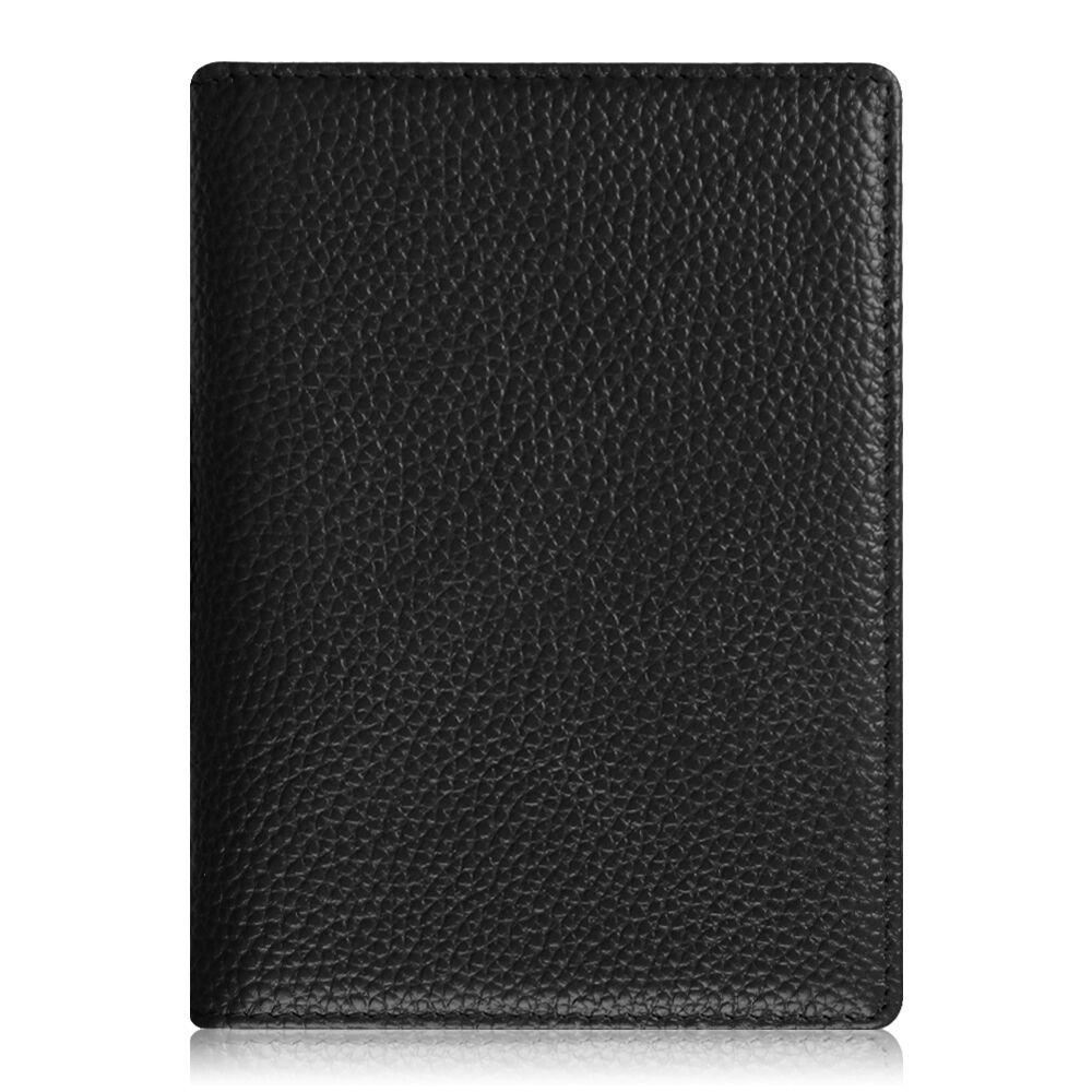 Travel Passport Holder Wallet Holder RFID Blocking Vegan Leather Card Case Cover Black